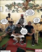 Burkina Faso: le Moro Naba reçoit les artistes ivoiriens Dj Arafat, Serges Beynaud et Dj Debordeau