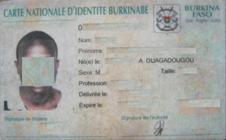 Le Prix De La Carte D Identite Burkinabe Fixe A Nouveau A 2500 F Cfa